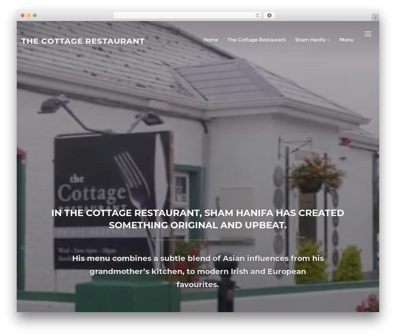 WP template Inspiro - cottagerestaurant.ie
