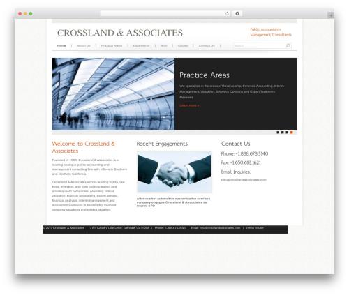 Agivee template WordPress - crosslandassociates.com