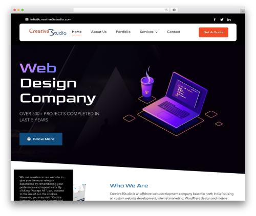Avada WordPress page template - creative3studio.com