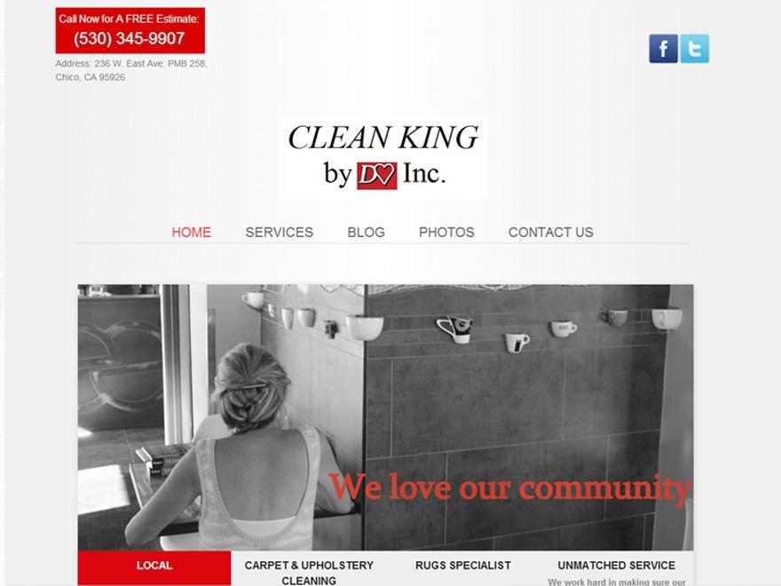Best WordPress template Clean King by DeHart