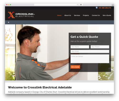 Best WordPress template Worker - crosslinkelectrical.com.au