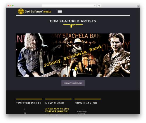 Best WordPress theme Sonik - civildefensemusic.com