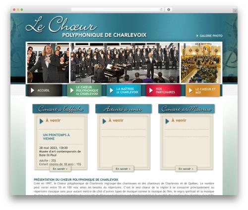 Choeur Polyphonique de Charlevoix WordPress theme design - choeurpolyphoniquedecharlevoix.org