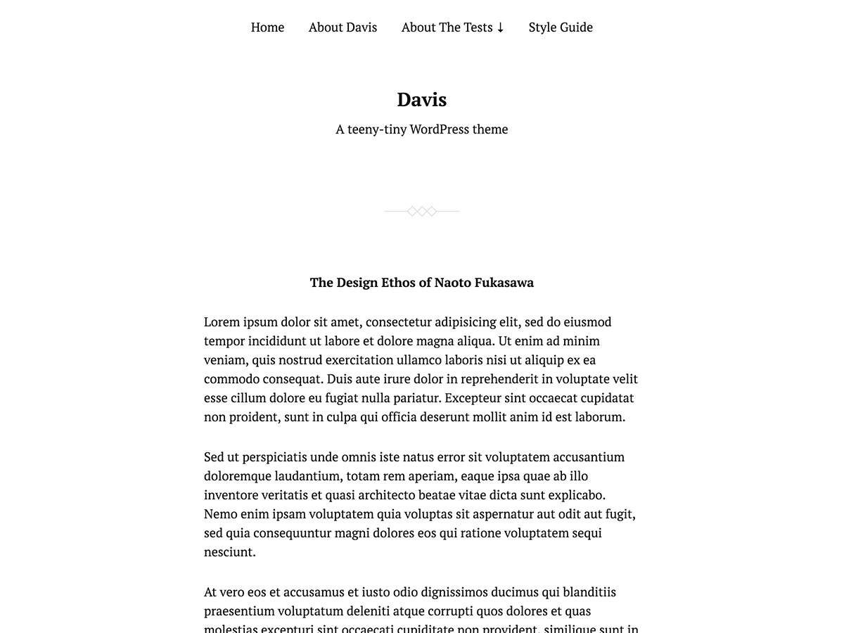 Davis-child WordPress blog template
