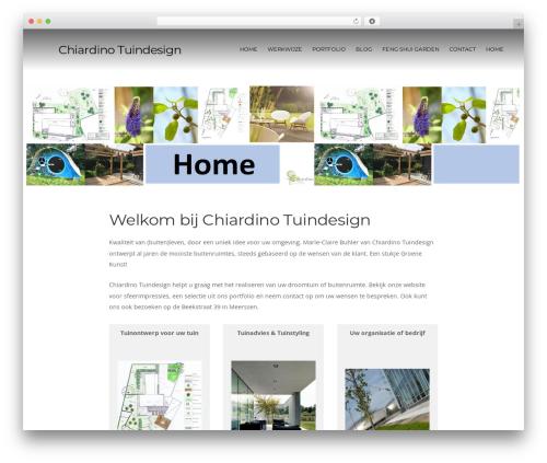 Organic Purpose theme WordPress - chiardino-tuindesign.nl