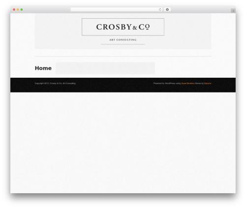 Template WordPress Super Skeleton - crosbyart.com