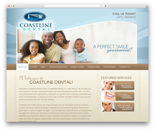 Free WordPress PC Custom CSS plugin - coastlinedental.com