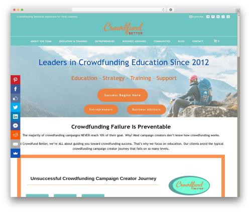 Theme WordPress Jupiter - crowdfundbetter.com