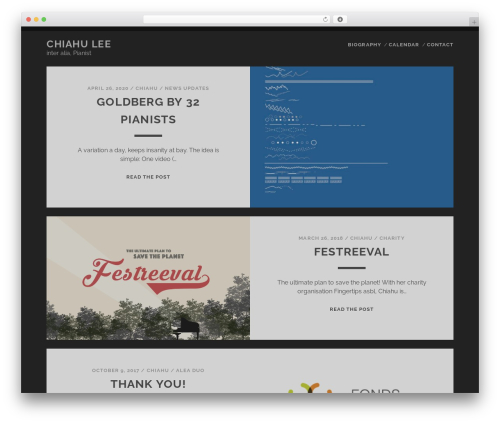 Free WordPress ConcertPress plugin - chiahulee.com