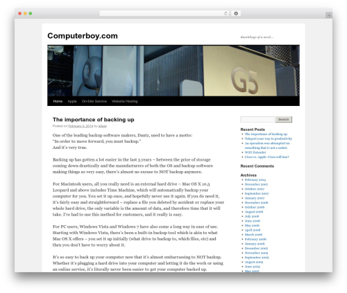 Twenty Ten free website theme - computerboy.com