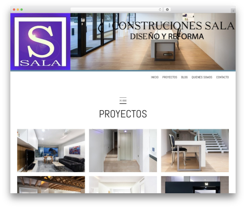 Wall Street WordPress theme - construccionessala.com