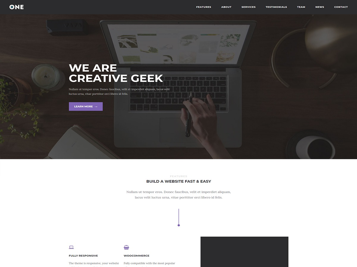 Meridian One WordPress shop theme