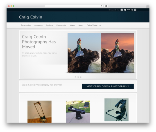 Modular top WordPress theme - craigcolvin.com/photography