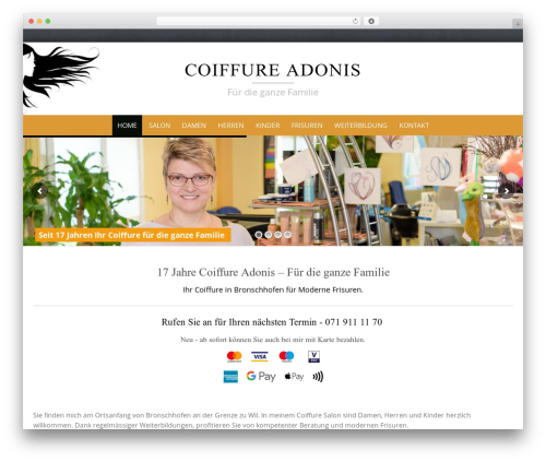 Pure & Simple Pro premium WordPress theme - coiffure-adonis.ch