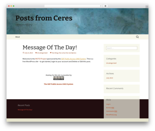Twenty Thirteen theme free download - ceres.motd.org