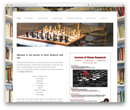 Twenty Twelve template WordPress free - chessresearch.org
