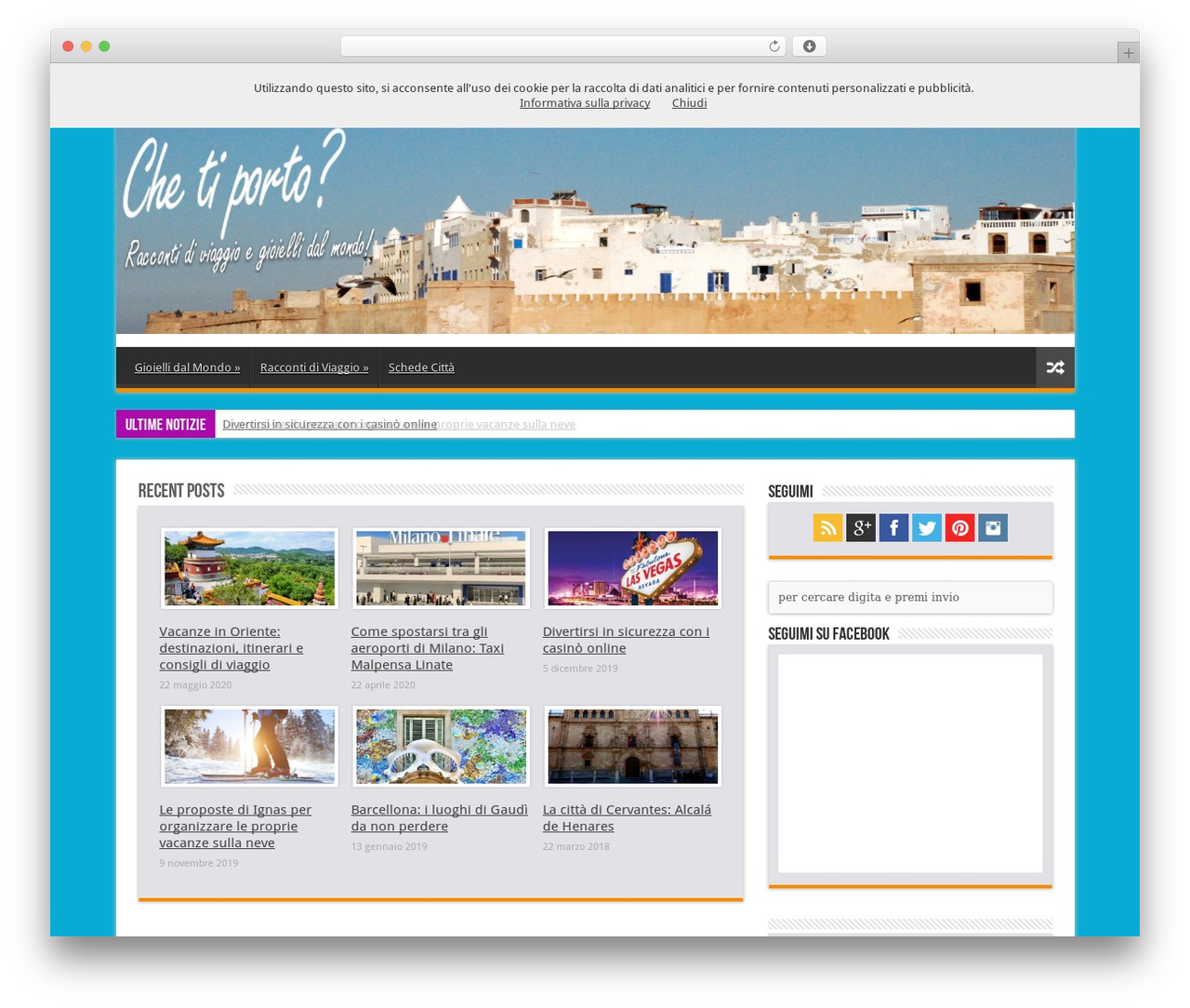 WordPress template Sahifa - chetiporto.it