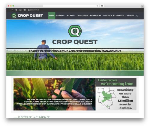 WordPress website template Avada - cropquest.com