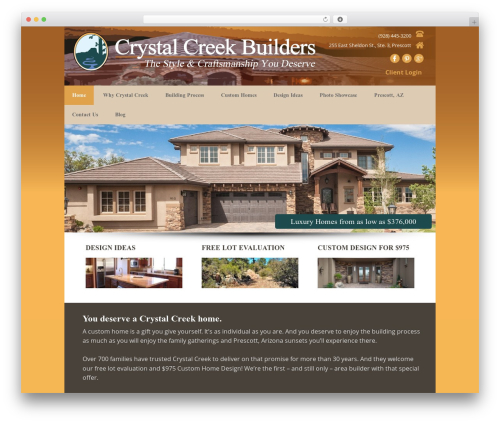 Executive Pro Theme WordPress theme - crystalcreekbuilders.net