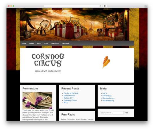Responsive best free WordPress theme - corndogcircus.com