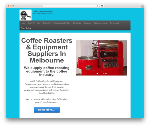 Responsive template WordPress free - coffeeroastingmachinery.com.au