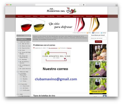 statement best free WordPress theme - clubamantesdelvino.com/home