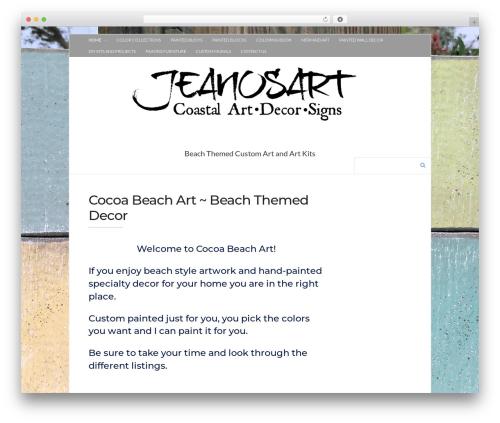 WordPress theme Socrates v5 - cocoabeachart.com