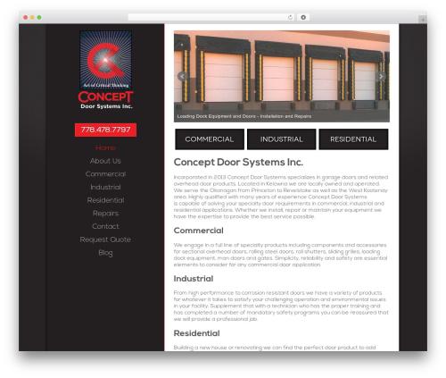 WP theme Chimera - conceptdoor.ca