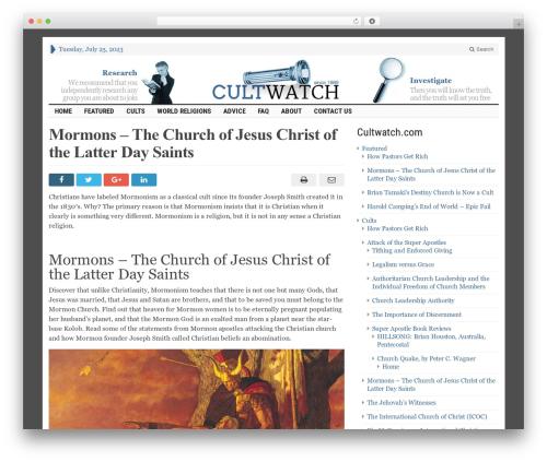 advanced newspaper newspaper WordPress theme - cultwatch.com/mormon.html