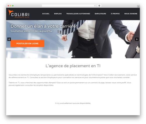 Best WordPress template Jobify - colibri-recrutement.com