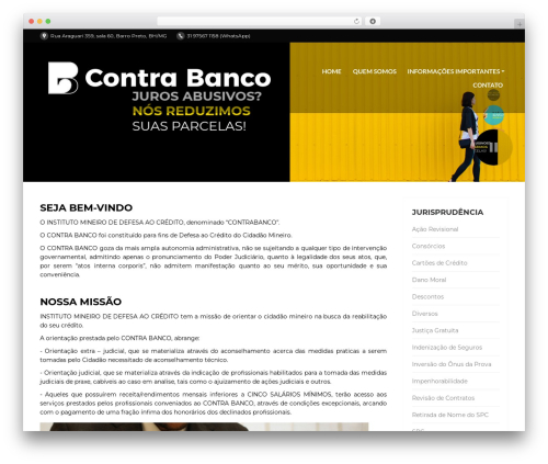 Best WordPress template PressCore - contrabanco.com.br