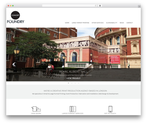 Blank Theme best WordPress template - conceptfoundry.co.uk