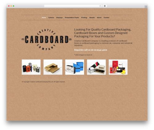 Classica theme WordPress - creativecardboard.com.au