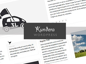 Kundera personal WordPress theme