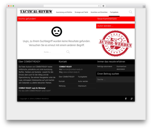 Magazine WordPress news theme - combat-ready.ch/tactical-review