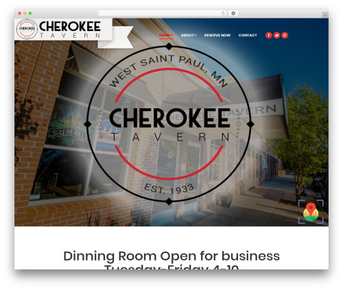 The7 WordPress template - cherokeetavern.com