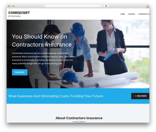 Theme WordPress Erzen - comiquart.ca
