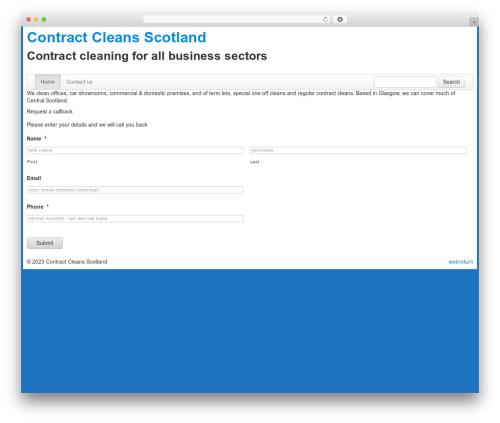 Toolset Bootstrap best WordPress theme - contractcleansscotland.com