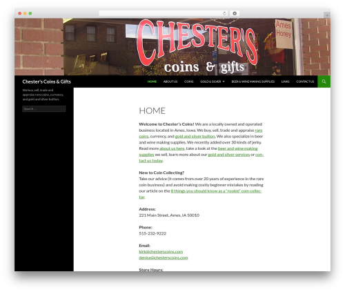 Twenty Fourteen WordPress theme download - chesterscoins.com