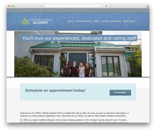 WordPress theme Medicate - chestercountyallergy.com