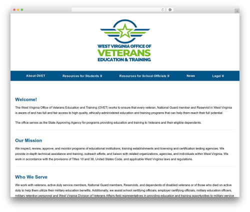 WordPress theme X - cfwvconnect.com/veterans-education