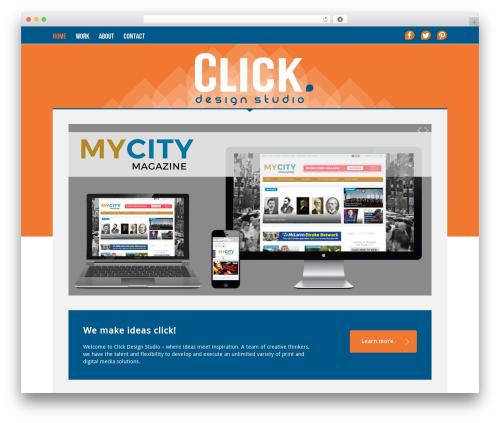 WordPress website template Momentum - creativityclicks.com