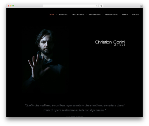 Chariot WordPress theme - christiancarlini.com