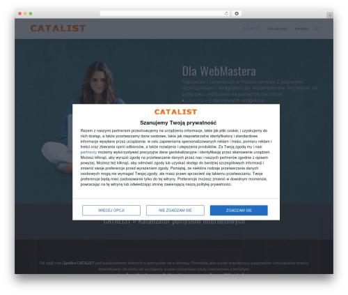 Divi template WordPress - catalist.com.pl