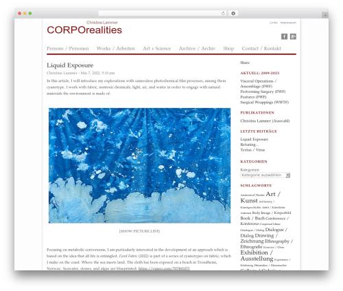 WordPress shortcodekid plugin - corporealities.org