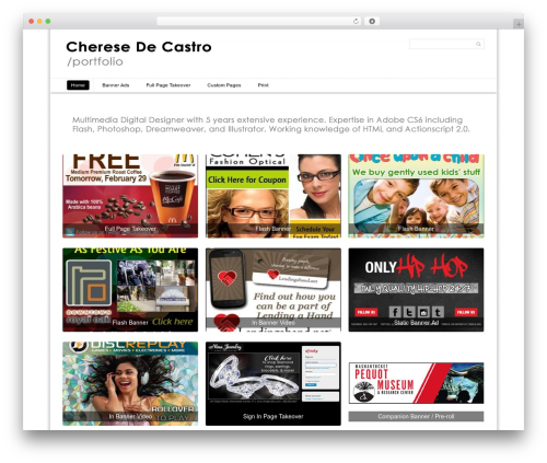 Simple Grid Theme Responsive WordPress portfolio theme - cheresedc.com