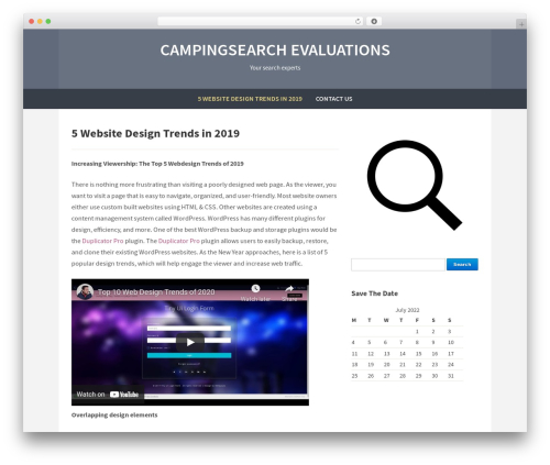 Template WordPress Campus - campingsearch.info