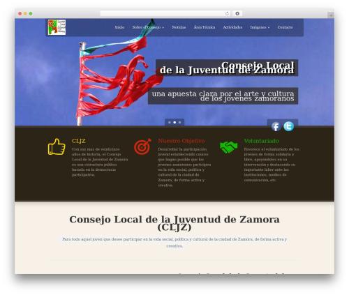 WordPress website template Green Earth - cljzamora.es