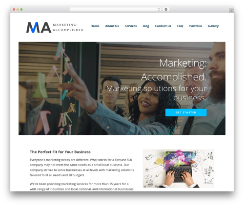 Ascension business WordPress theme - marketingaccomplished.com
