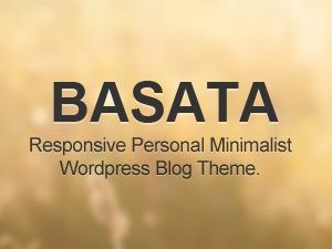 Basata (shared on wplocker.com) WordPress blog theme